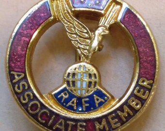 Vintage RAFA Associate Member enamel badge