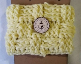 Light Yellow Coffee Cup Cozy