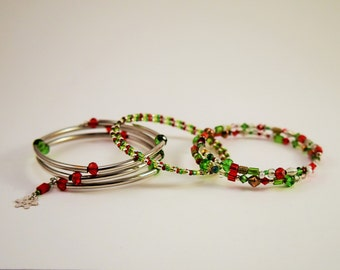 Christmas 3 Bracelet Set Wire