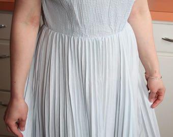 1950s Vintage Breezy Blue Dress
