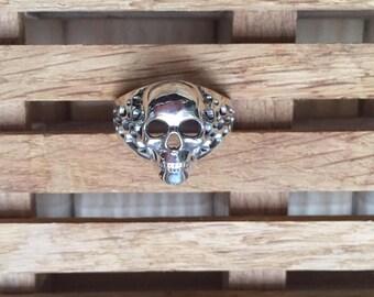 Sterling silver Skull ring, silver ring 925