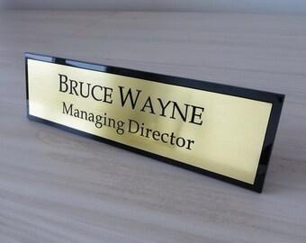 Elegant Desk Name Plate | Etsy