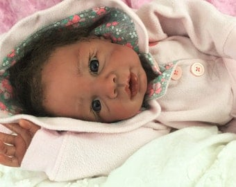 """Biracial Reborn Baby Girl """"Kyra"""" by Believable Babies for People with Dementia and Alzheimer's- Doll Therapy for Memory Care"""