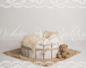 Newborn Digital Backdrop (bowl/bear)
