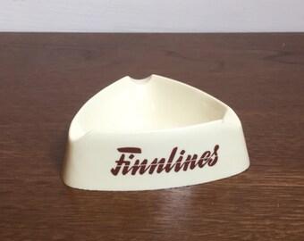 Retro Ashtray Finnlines Advertising Memorabilia