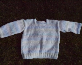 Pastel rainbow warm and cosy childrens baby jumper, winter ready, great gift
