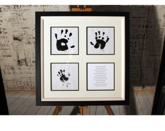 Personalised Handprint Professionally Framed Picture