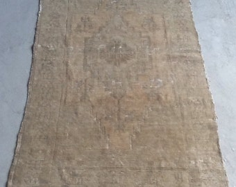 3'5x6'7'' SALE! 30% OFF! Turkish Rug, Beige Handmade Carpet