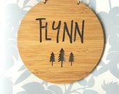 Personalised Wooden Wall / Door Hanging - Trees 14cm or 19.5cm-wall hanging-wall art-wooden sign-custom name-kids gift-baby gift-lasercut