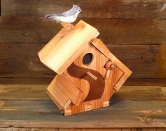 Unique handmade artistic birdhouse