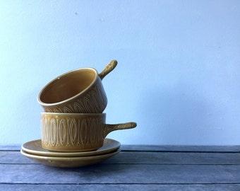 Vintage Tams England Soup Mugs