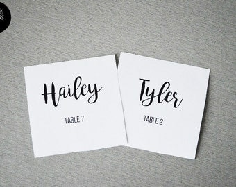 40 Wedding name cards - wedding place cards - table cards - place cards - name cards - wedding place card -Wedding table decor supply SAM 10