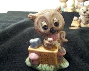 Vintage Owls, Porcelain Owls, #VTG031