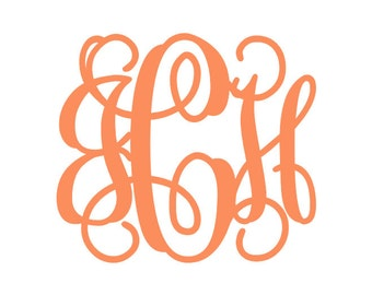 Monogram Decal | Vinyl Monogram | Monogram Decal | Monogram Vinyl Decal | Custom Decal | Custom Monogram | Vine Monogram | Swirl Monogram