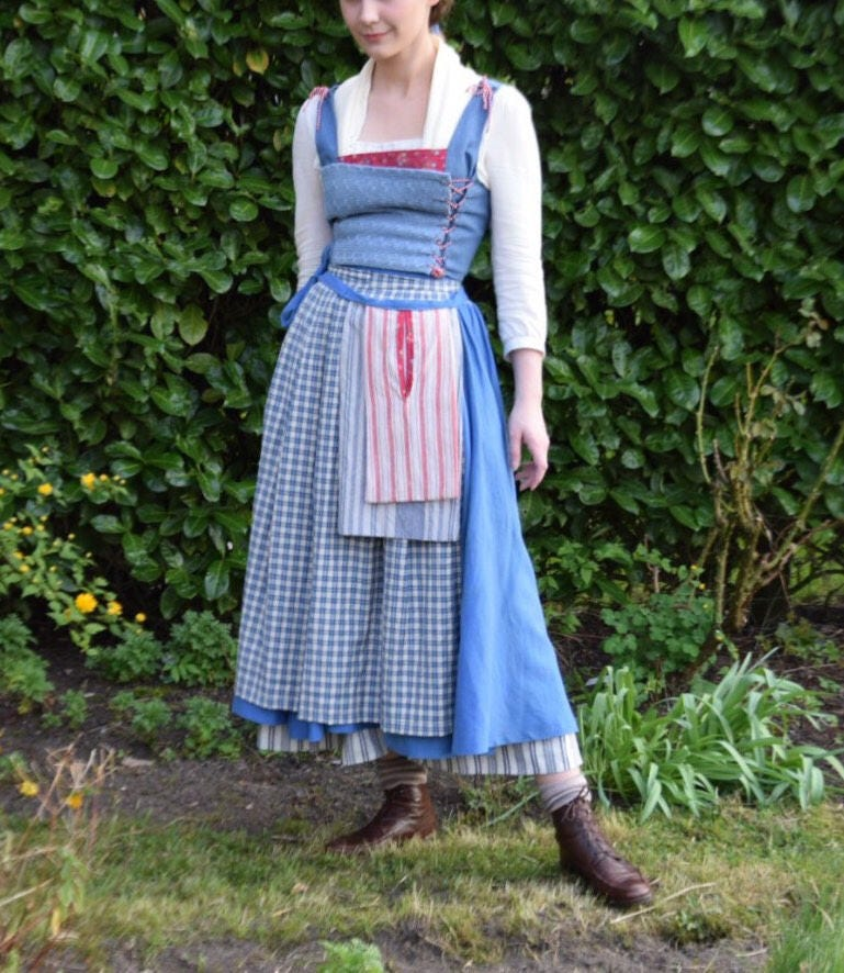 2017 belle blue village dress costume