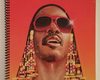 Stevie Wonder Notebook Made from Recycled Vinyl Record Album Cover