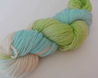 Sub-Lime, Worsted Weight Hand Dyed Yarn