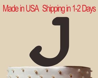 Monogram J Cake Topper, Personalized Monogram Cake Topper, Initial J Cake Topper, Custom Monogram Cake Topper, Silhouette, Custom  CT122