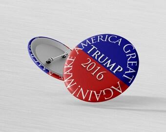 Donald Trump Pin - Republican Pin - Election 2016 Pin - Merica Magnet - Make America Great - Republican Elephant - Campaign Button Pin
