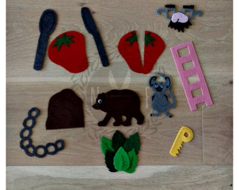 The Little Mouse, The Red-Ripe Strawberry, and The Big Hungry Bear Felt Kit