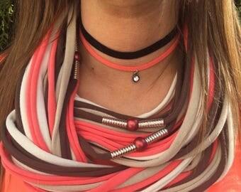 Designer spaghetti scarf