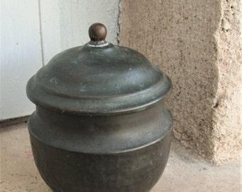 ANTIQUE CHINESE POT, tea caddy, asian pots, antique copper, copper pots,