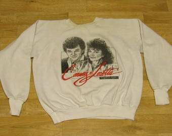 Vintage Conway Twitty and Loretta Lynn Sweater 80s