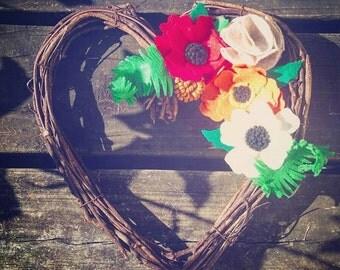 Poppy Love Wreath