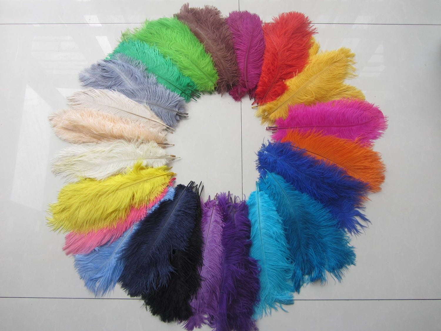 Ostrich feathers for handmade items feather