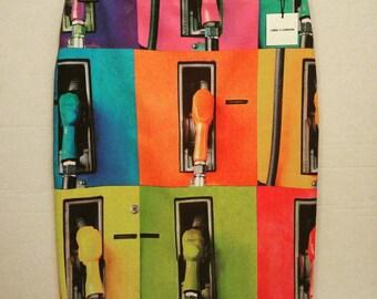 Petrol pump pencil skirt