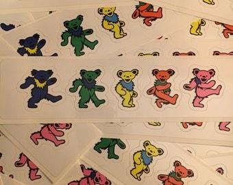 Dancing Bears Sticker Sheet - Grateful Dead