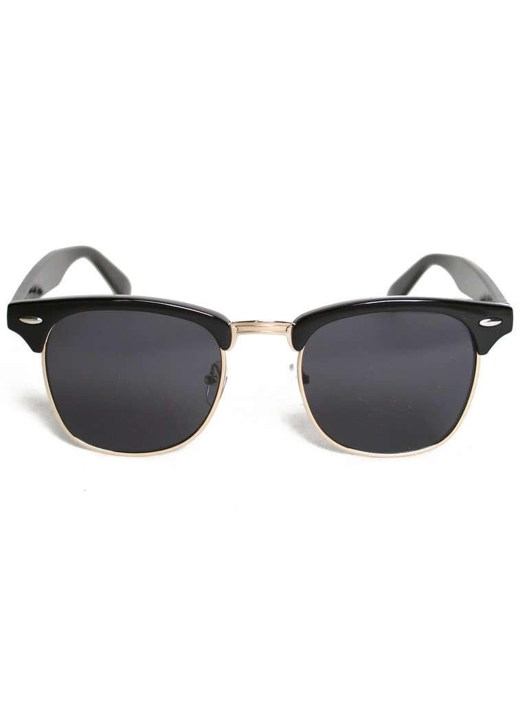 Vintage Wayfarer Schwarz Gold Rahmen Sonnenbrillen dunkle