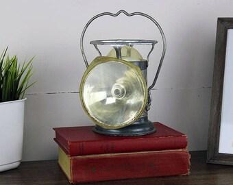 Vintage Delta Lantern, Vintage Metal Lantern, Delta Metal Lantern, Vintage Lamp, Industrial Lantern, Railroad Lantern, Vintage Metal Lamp