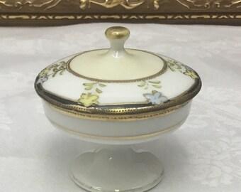 Hand painted Nippon pedestal trinket dish