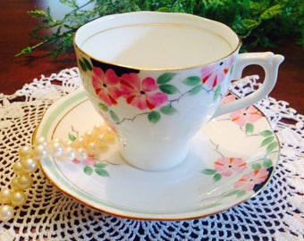 Roslyn hand painted teacup and saucer