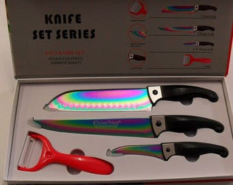 Box knives stainless coating titanium 4 Pieces