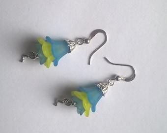 flower earrings, bell earrings, floral earrings, flower jewellery