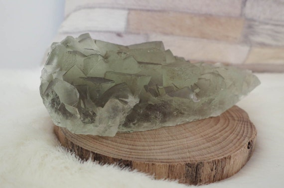 WOW! Special Price: 506g LARGE Frosty Green Cubic Fluorite From China - ITEM #91 - 11 x 8 x 3.5cm