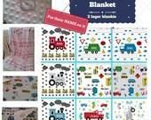 Personalized Blanket - Cars, Trucks & Trains - Custom Organic Cotton Minky Baby Blanket | Newborn Swaddle | Toddler Kids Name Blanket