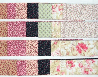 "Jelly Roll -40ct. Precut 2.5"" strips/tiny floral/flowers/vines/calico/pink/peach/brown/tan/red/green/mint/cream/ivory/yellow (#JR2)"