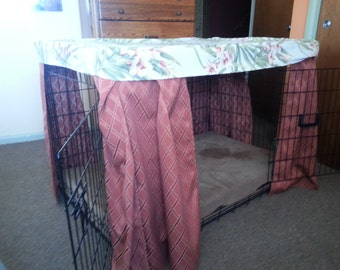 Bedtime Bower Custom Crate Cover//Pet Crate Cover//Dog Bed Cover//Coordinated Dog Bedding//Kennel Cover//Dog Crate Cover
