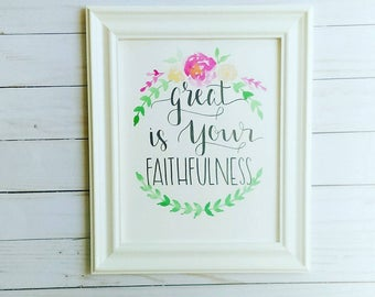 Great Is Your Faithfulness- Pink