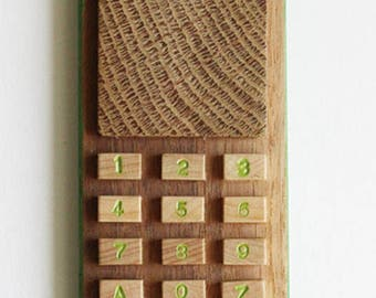 walnut wood cellphone