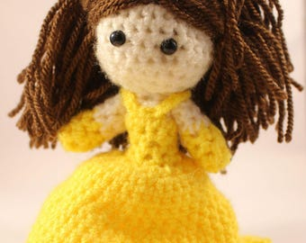 Crocheted Belle - Beauty and the Beast - Disney - Princess- Childrens - Toy - Doll