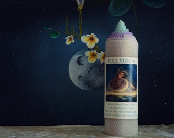 Full Moon Candle for Honoring Mother Moon