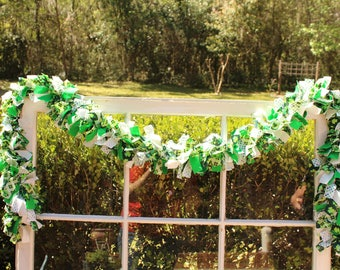 St. Patrick's Day 6' Rag Garland/Swag