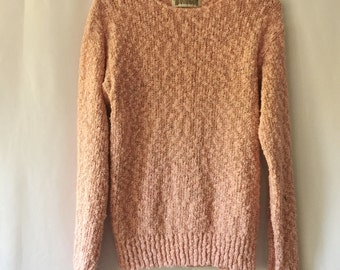 Super cozy, light pink, vintage, knitted sweater