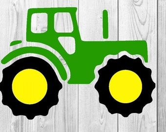 Tractor Decal - Tractor Vinyl Decal - Tractor Sticker - Green Tractor - Decal - Tractor