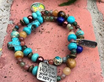 Boho Hero:  Bohemian Bracelet that celebrates the Hero in You