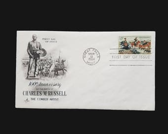 1964 FDC 5c Charles M. Russell - Scott 1243 - 5 cent stamp First Day Issue